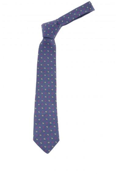 Cravatta blu con motivi paisley per uomo P/E 2015 FRANCO BASSI