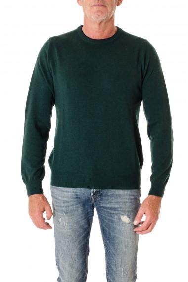 Girocollo con toppe di colore verde RIONE FONTANA A/I 16-17 per uomo