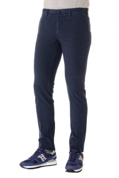 Pantaloni INCOTEX in cotone blu A/I 16-17