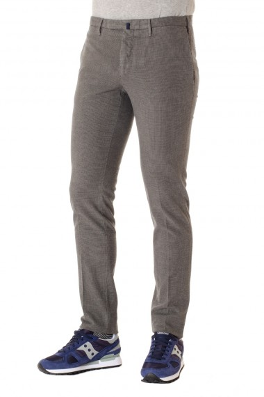 Pantaloni a microquadretto skin fit INCOTEX A/I 16-17