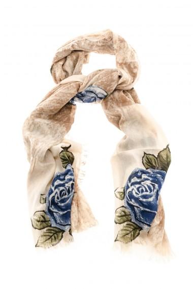 Sciarpa CAMERUCCI con rose dipinte a mano A/I 16-17