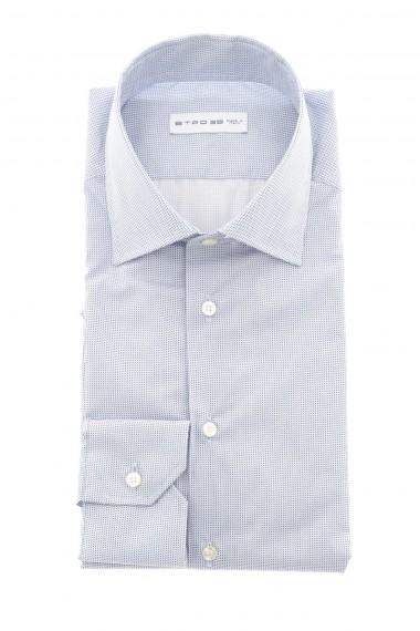 ETRO Camicia per uomo made in Italy A/I 16-17 bianco e azzurro