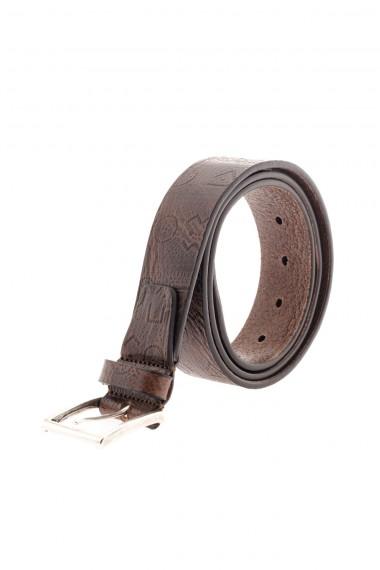 RIONE FONTANA  Cintura marrone per uomo A/I 16-17 con decorazioni