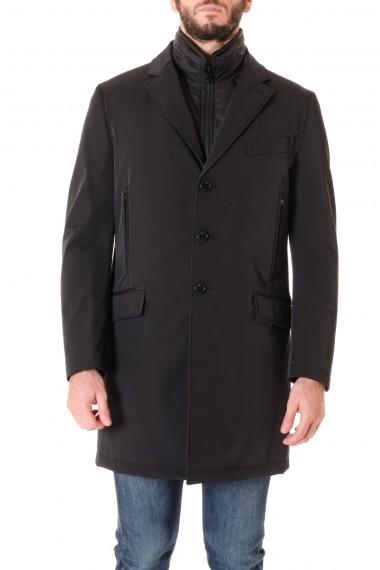 Cappotto uomo FAY nero con gilet removibile A/I 16-17