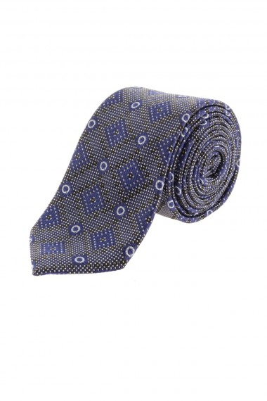 Cravatta A/I 16-17 in seta con quadri obliqui RIONE FONTANA