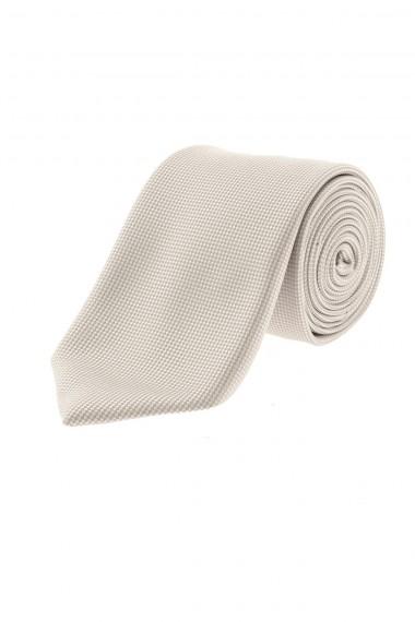 A/I 16-17 RIONE FONTANA Cravatta beige in seta per uomo