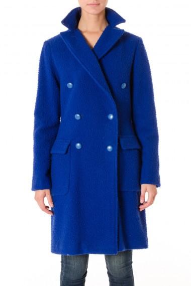 Cappotto FEMME by Michele Rossi in lana  A/I 16-17 blu