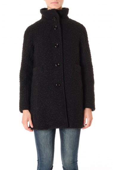 Cappotto donna nero con interno staccabile UP TO BE A/I 16-17