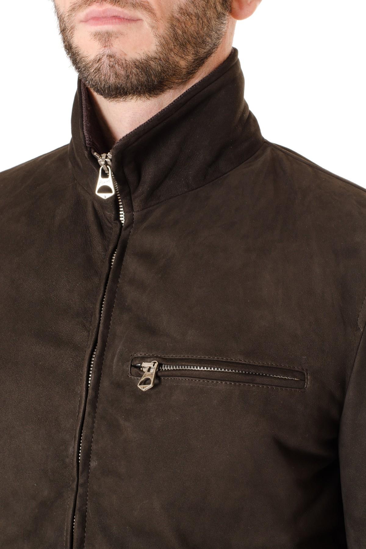 Leather jacket brown or black