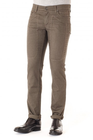 JECKERSON  Pantaloni uomo slim fit A/I 16-17 marrone