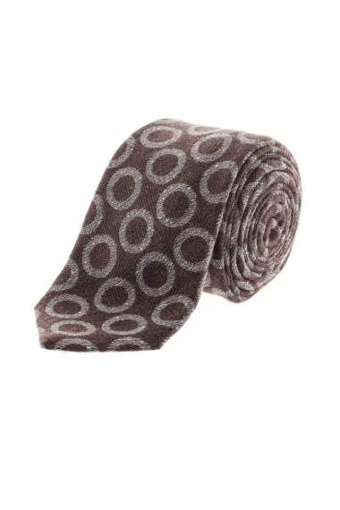 Cravatta RODA marrone con cerchi grigi A/I 16-17