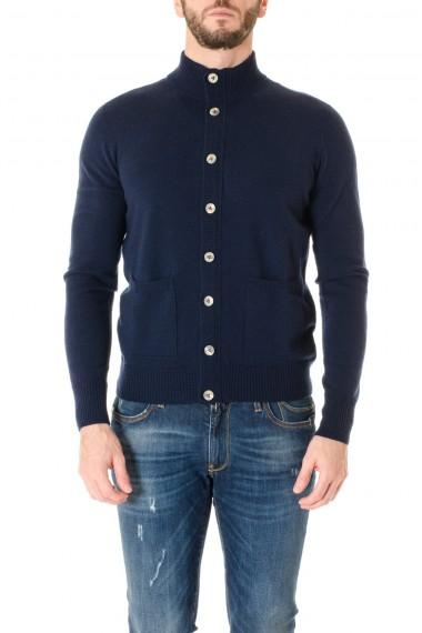 H953 Cardigan blu in lana A/I 16-17 per uomo