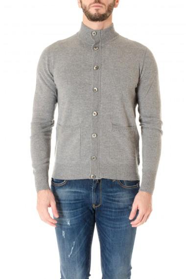 Cardigan in lana A/I 16-17 per uomo H953 grigio