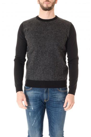 BRIAN DALES A/I 16-17 Girocollo nero e grigio per uomo