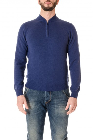 A/I 16-17 Maglia blu con zip RIONE FONTANA per uomo