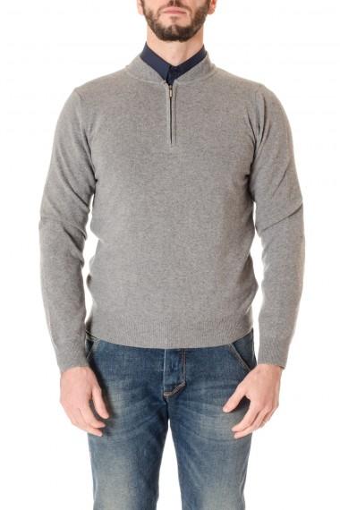 A/I 16-17 Maglia grigia con zip RIONE FONTANA per uomo