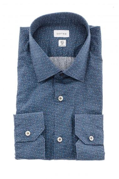 Camicia SLIM56 blu bianco arancio mélange BORSA A/I 16-17