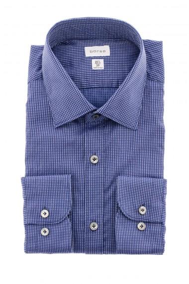 Camicia BORSA bianco-blu-azzurro fantasia A/I 16-17 per uomo