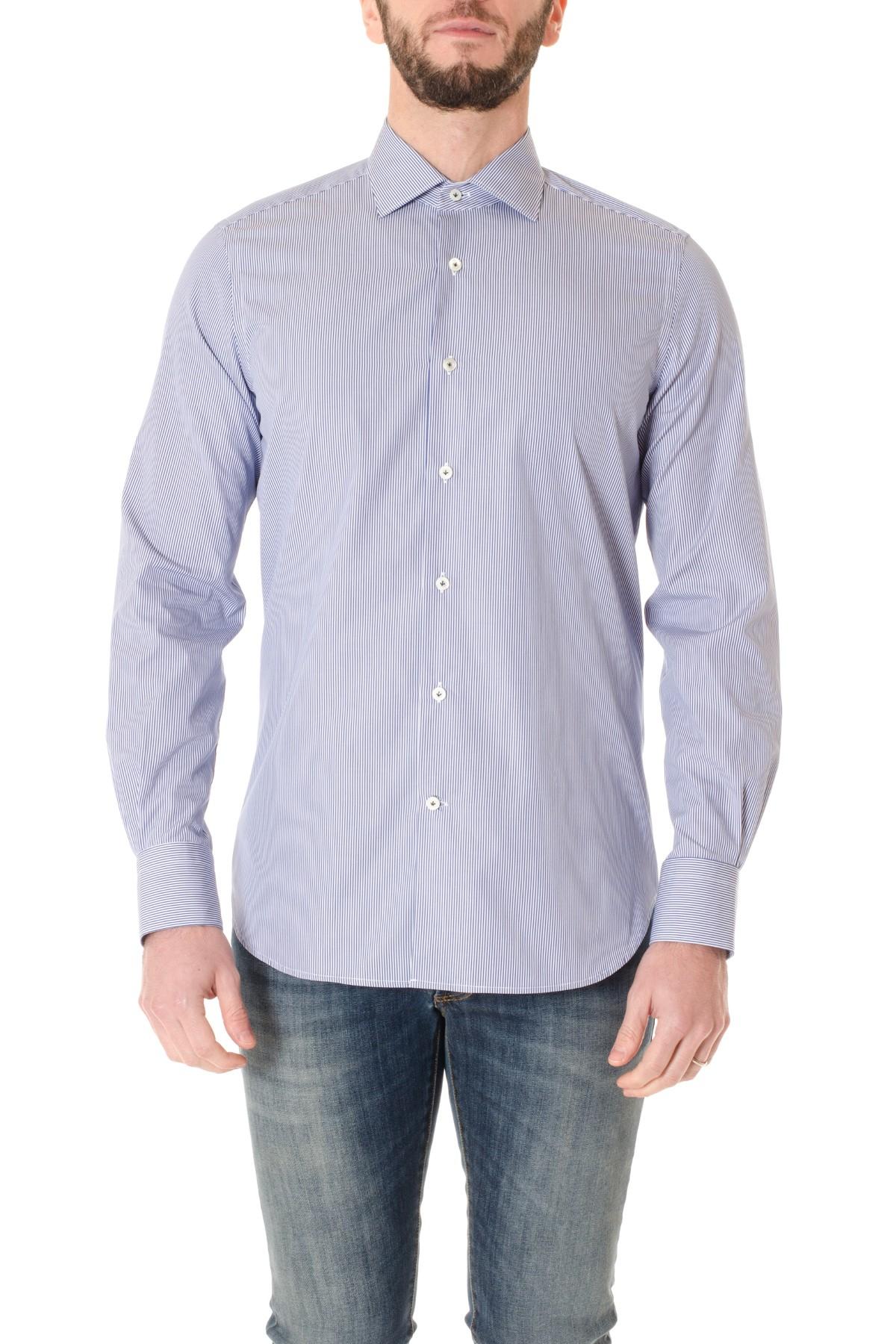 White shirt BORSA with blue stripes for men F/W 16-17 - Rione Fontana