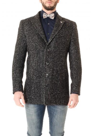 Cappotto grigio spinato BARBATI uomo A/I 16-17
