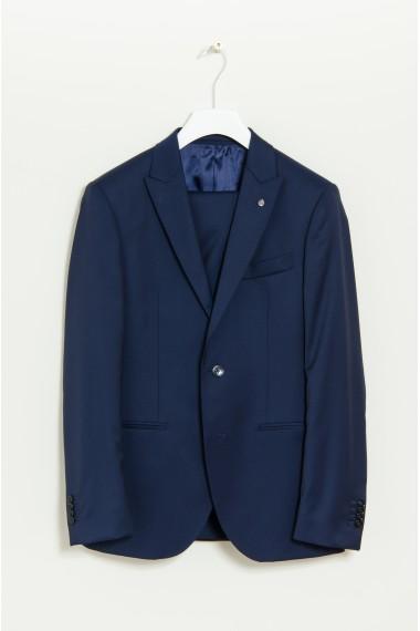 Abito elegante blu in lana LUIGI BIANCHI MANTOVA P/E17