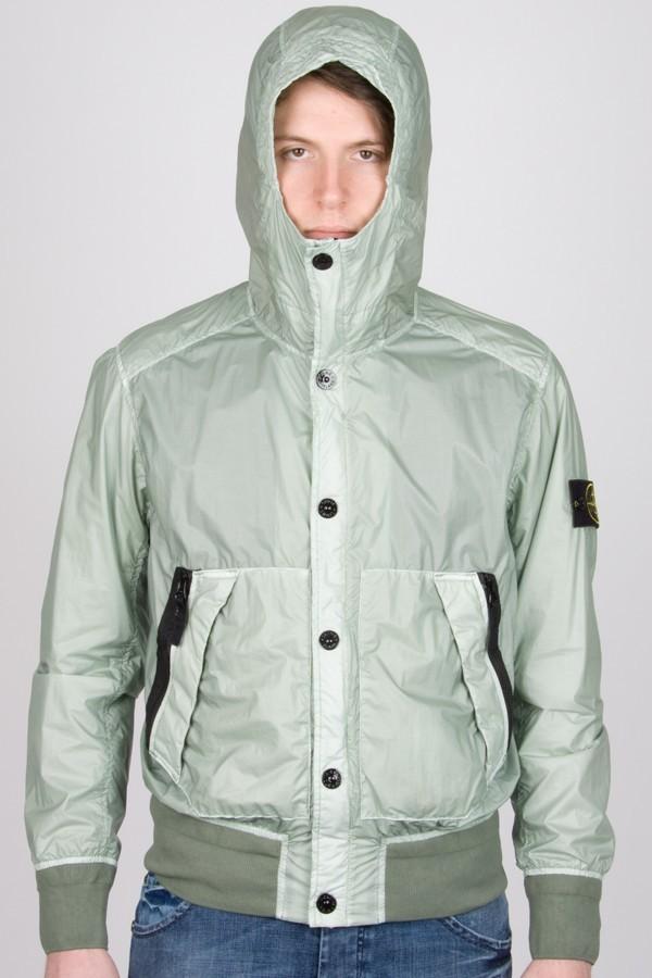 STONE ISLAND. Opalescent green jacket. Man. Spring\/Summer ...