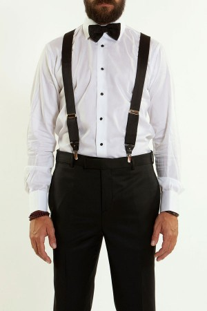 MAURO GRIFONI White shirt with black buttons for men - Rione Fontana