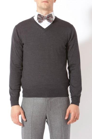 RIONE FONTANA. A/I 2013/2014. Maglione grigio per uomo