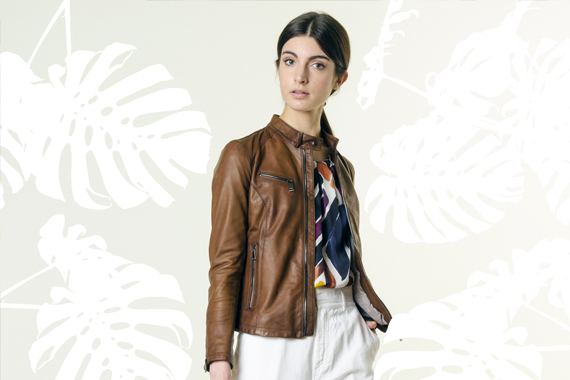 Look 120 - Colors Explosion 3 - VOLFAGLI giubbotto, ALPHA blusa, REBELLE borsa, RE-HASH pantaloni, BEPOSITIVE scarpe