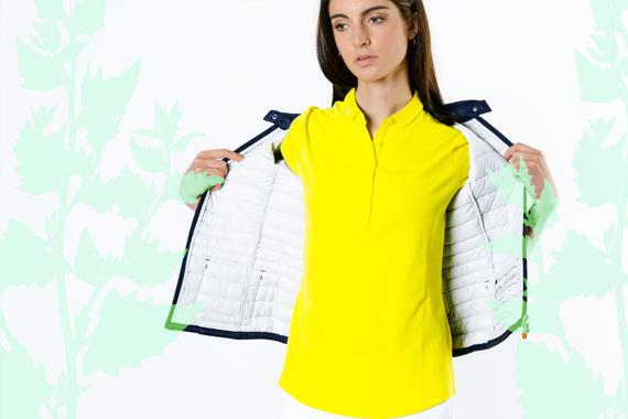 Look 119 - Colors Explosion 2 - SAVE THE DUCK jacket, SUN68 polo shirt, MC2 SAINT BARTH bag, SAUCONY sneakers