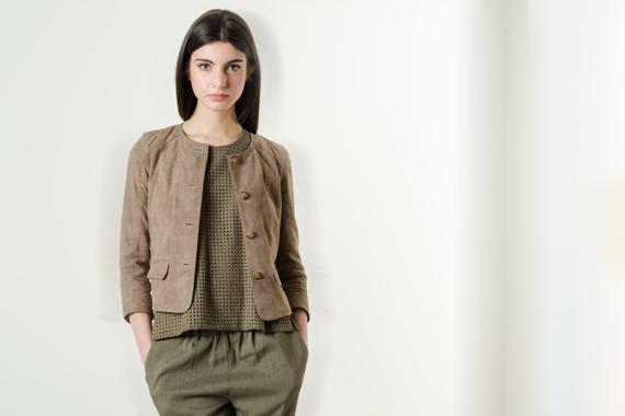 Look 117 - Urban Mood - BRIAN DALES pantaloni, SAUCONY sneakers, RIONE FONTANA giacca, sciarpa