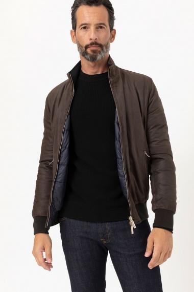 Brown jacket for men RIONE FONTANA