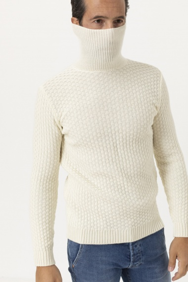 Roll-neck pullover for man PAOLO BERTELLI
