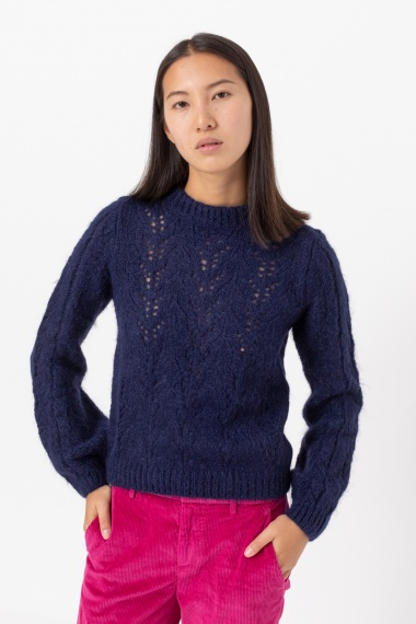Blue pullover for woman DONDUP F/W 21-22