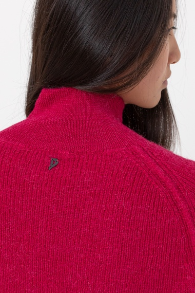 Red rollneck pullover for woman DONDUP F/W 21-22