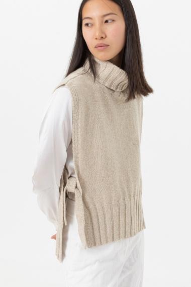 Beige  vest for woman ALPHA F/W 21-22