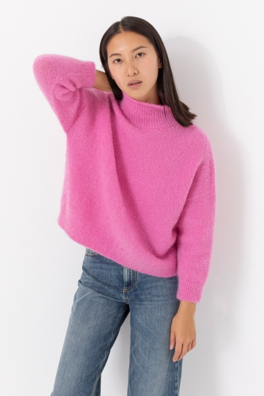 Pink rollneck pullover for woman VANISE' F/W 21-22