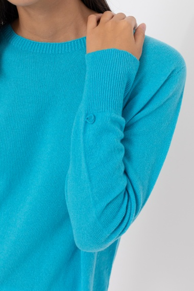 Light blue pullover for woman VANISE' F/W 21-22