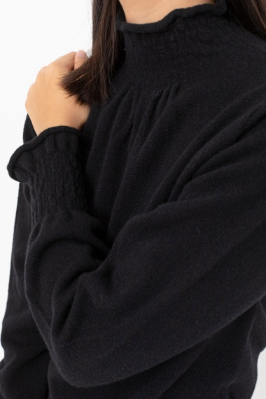 Black rollneck pullover for woman VANISE' F/W 21-22