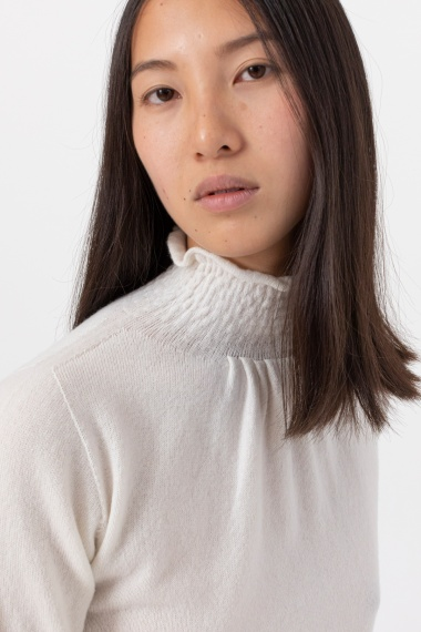 White rollneck pullover for woman VANISE' F/W 21-22