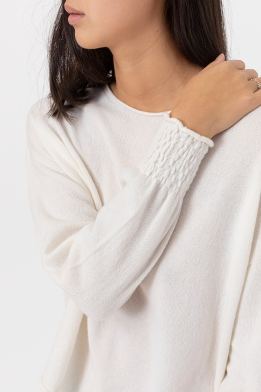 White pullover for woman VANISE' F/W 21-22