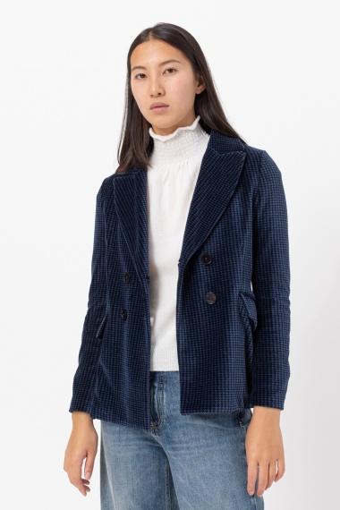 Pied de poule jacket for woman CIRCOLO 1901 F/W 21-22