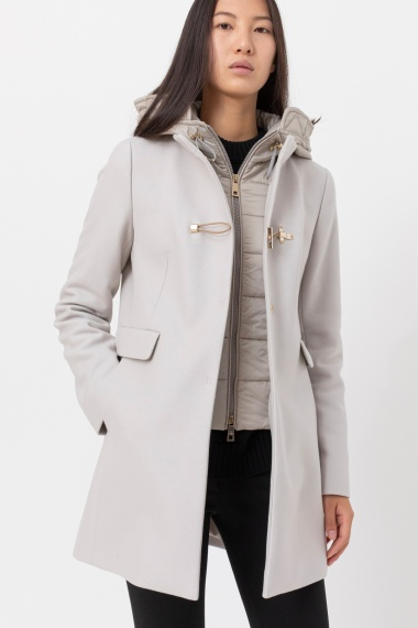Light grey Toggle Coat for woman FAY F/W 21-22