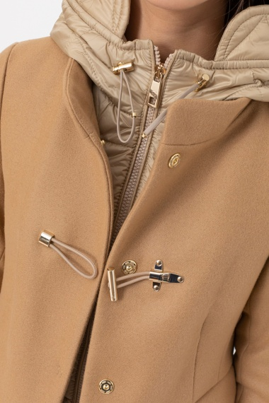 Camel Toggle Coat for woman FAY F/W 21-22