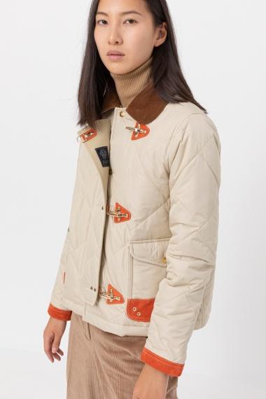 Cream jacket for woman FAY F/W 21-22