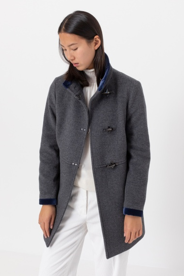Light grey coat for woman FAY F/W 21-22
