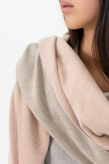 Pink and beige scarf for woman ALPHA F/W 21-22