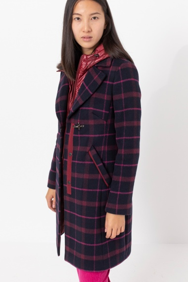 Check coat for woman FAY F/W 21-22