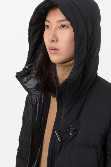 Long black down jacket for woman FAY F/W 21-22