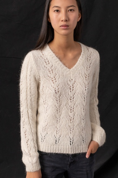 White pullover for woman DONDUP F/W 21-22
